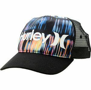 Hurley Record Scratch Mens Trucker Hat Cap - Black